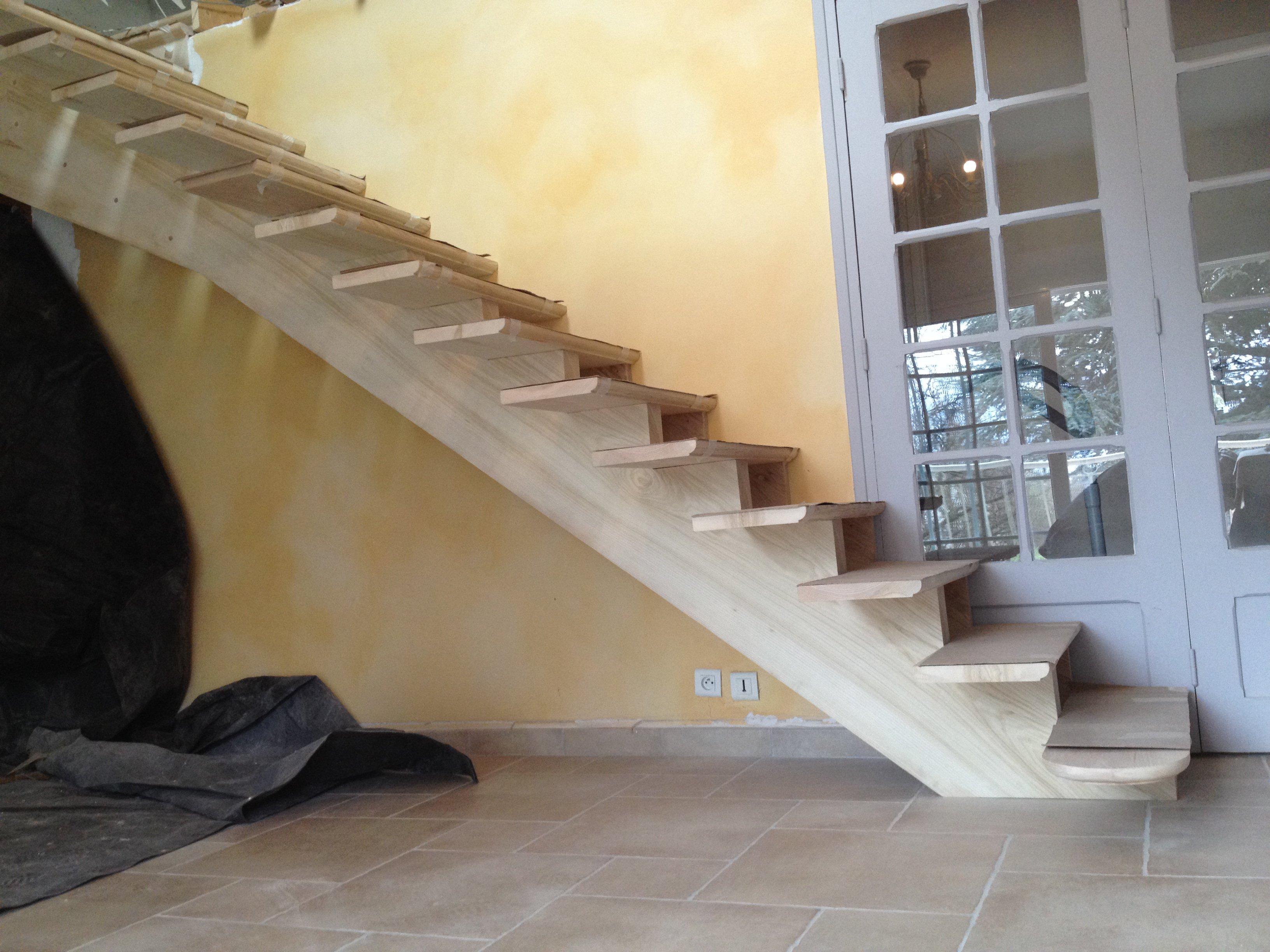 Escalier Droit Sans Rampe avec escalier - sarl beauné lamouret